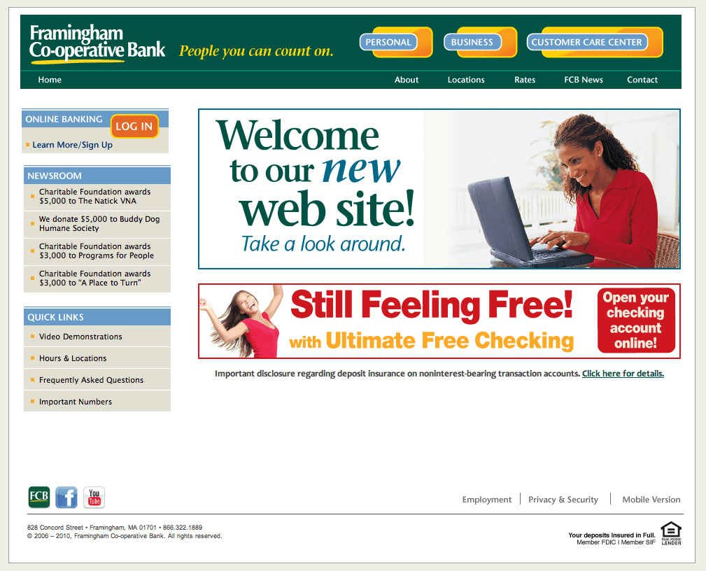 A new site for Framingham Bank