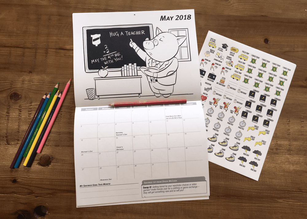 Calendar and Stickers