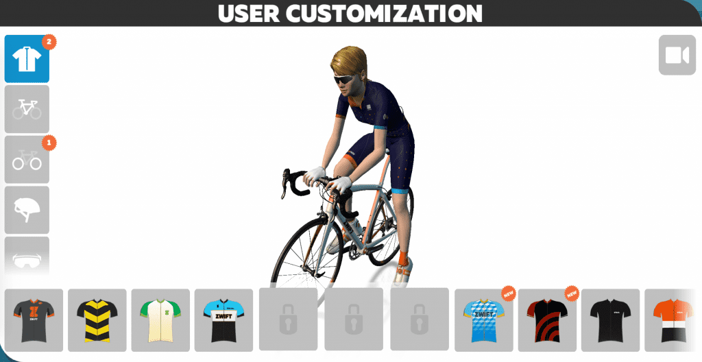 User customization screen