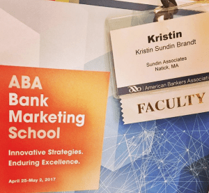 Kristin ABA Marketing Badge